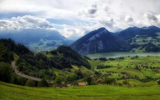 pemandangan, gunung, indah, yang, danau, дарьи, alam, gambar, dan,