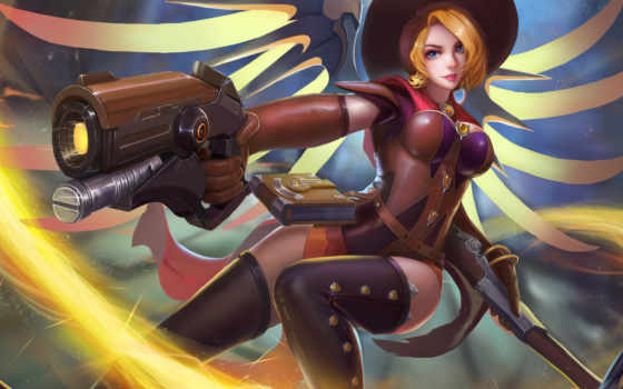 overwatch, mercy, страница, tagged, witch, взгляд, watson, качество,