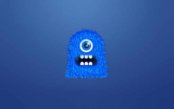 монстр, синий Фон № 22080 разрешение 1680x1050