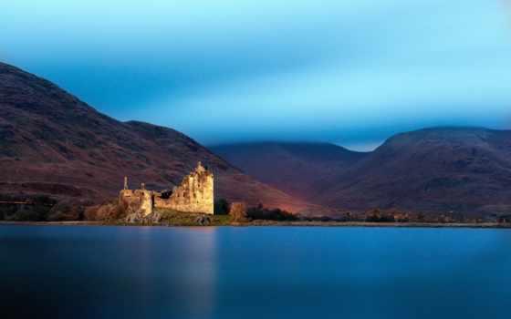 замок, пейзажи -, шотландия