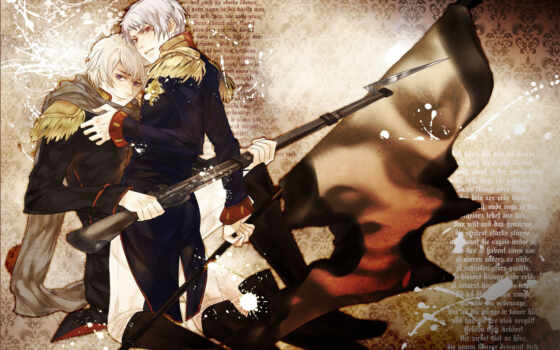 hetalia, хеталия, россия, art, anime, prussia, оси, mochifin, страны, флаг,