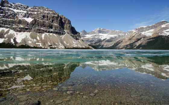 природа, озеро, горы, горное, канады, гряда, banff, national, горная, water, шикарная,