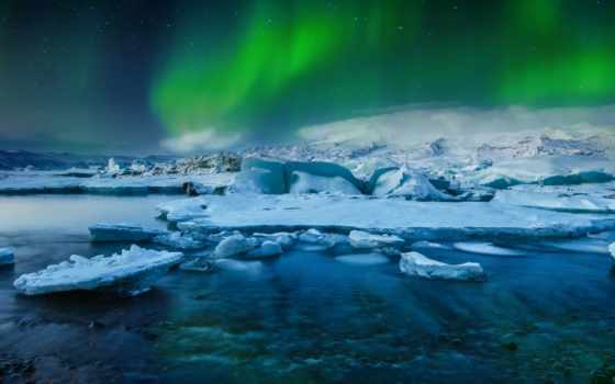 природа, северное, сияние, гоблин, горы, silhouettes, mashup, youtube, winter, ночь,