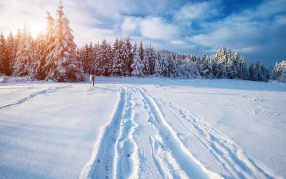 снег, landscape, winter, природа, фото, гора, небо, stokovyi