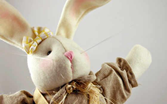 кролик, плюшевый