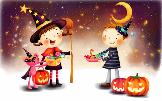нарисованный хеллоуин