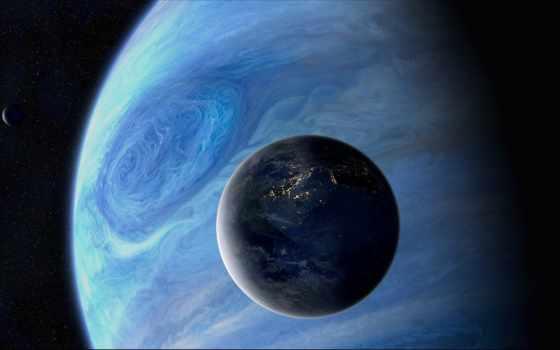 космос, планеты, спутник