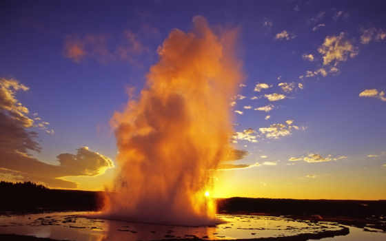 yellowstone, парка, park, national, йеллоустоун, достопримечател, кб, гейзеры, фумаролы, источники,