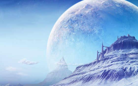 cosmos, planet, landscape
