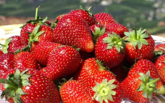 ягода, клубника, красный,