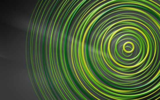 circle, зелёный, геометрия, серый, фон, абстракция