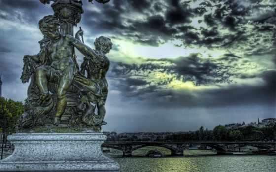 россия, петербург, санкт, памятник, скульптура, hdr, самый,