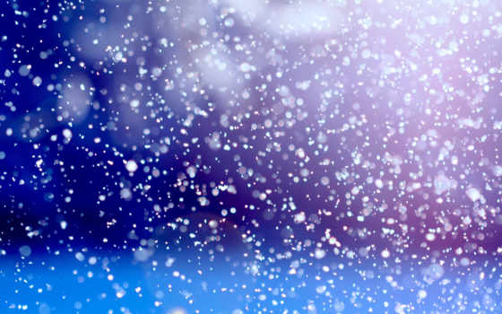 снег, идёт, свете, фонарей,