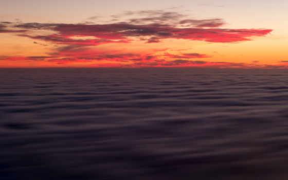 горизонт, california, небо