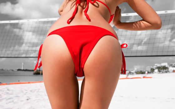 волейбол, пляж, ягодиц