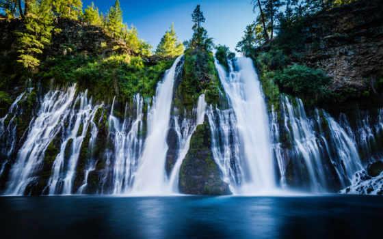 burney, falls, park, state, mcarthur, мемориал, california, shasta, уезд,