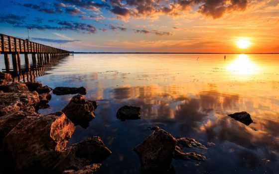 природа, фотографий, сол, por, яndex, качественные, pier, закат, пейзажные, закате,