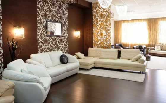 гостиная, дизайн, интерьер, стиль, бежевый, коричневый,