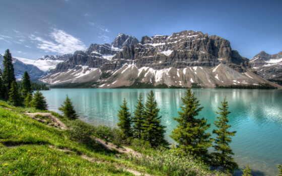 горы, смотреть, озеро