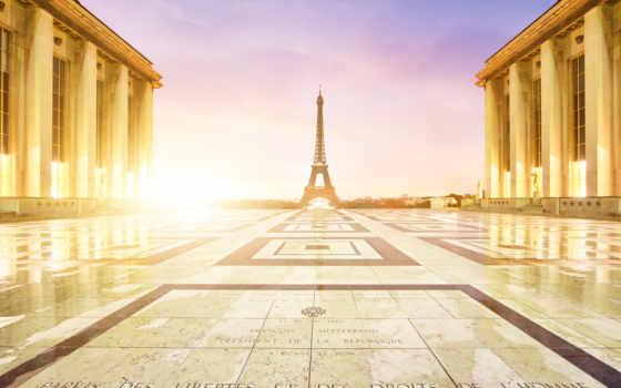 франция, париж, chaillot, palais, картинка, шайо, дворец,