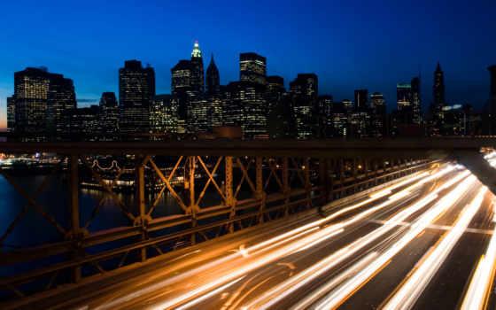 ночь, город, скорость, дорога,