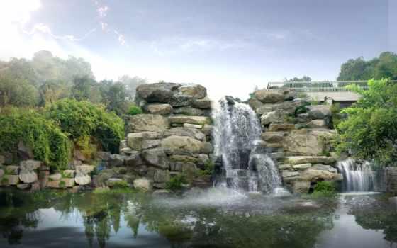 водопады, водопад