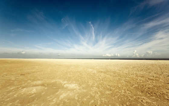 небо, пляж, renesse