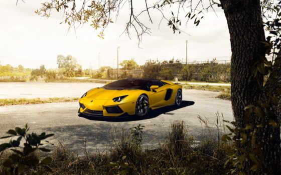 lamborghini, aventador, roadster Фон № 128049 разрешение 1920x1200