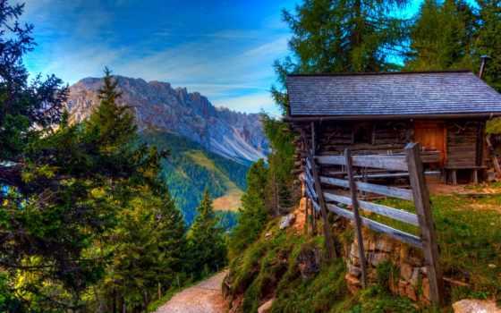 house, taevas, tee, горы, изба, iphone, пиратские, камни, desktop, wood,