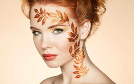 осень, женщина, portrait, elegant, hairstyle, stock, макияж, совершенн,