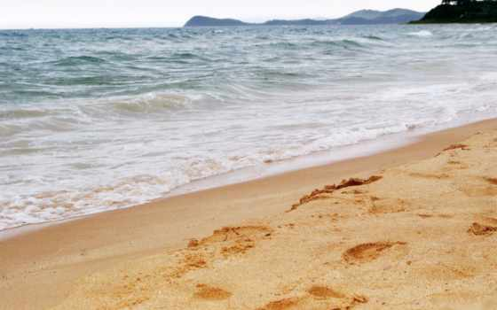 песок, море, высокого