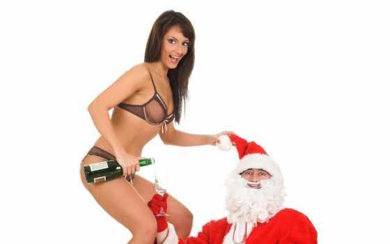devushki, год, christmas, дед, иней, котенок, девушка, girls, новогодние, fantasy, top,
