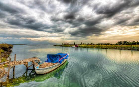 корабль, лодка, природа, река, shov, landscape, мост, bez, manzara