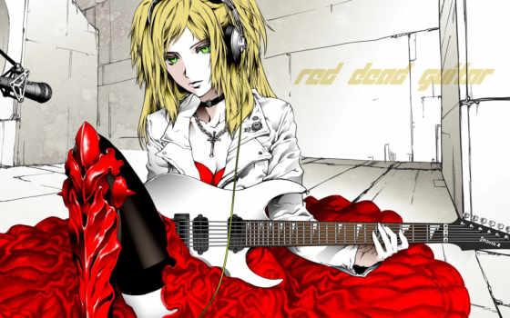 гитара, девушка Фон № 7430 разрешение 1920x1080