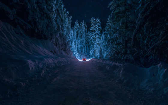 дорога, снег Фон № 22541 разрешение 2048x1345