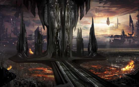будущее, город, art Фон № 103412 разрешение 2191x1080