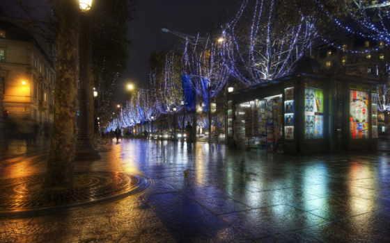 full, страница, города, париж, фотографий, hdr, фантастические, noite, fundo,