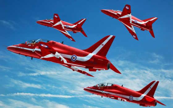 красные, самолеты, red