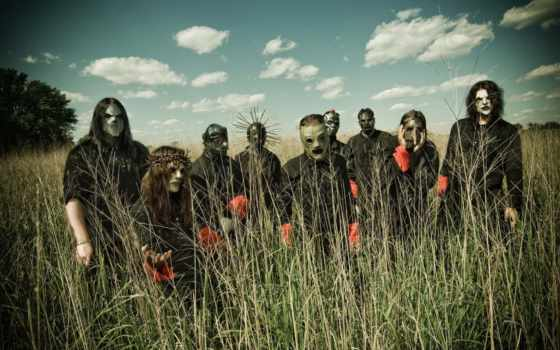 slipknot, band, wide, metal, mask, widescreen,