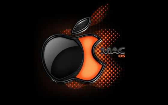 macos лого черно-оранжевое
