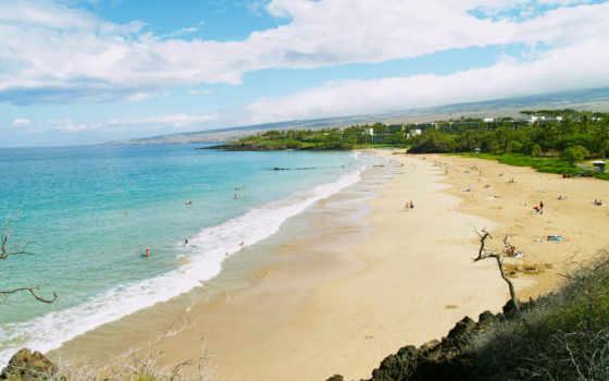 люди, пляж, природа