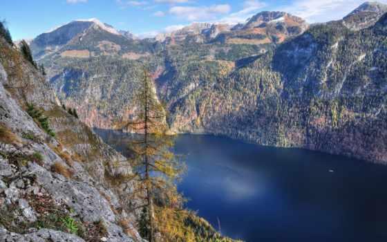 горы, природа, poly, леса, страница, лодки, trees, озеро, fjord, лес, туман,