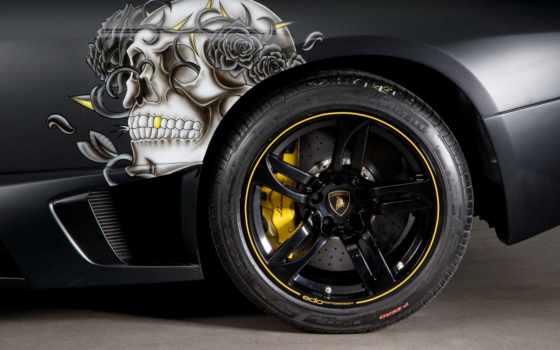 lamborghini, черепа, рисунок, авто, машине, автомобили, black, alucard, автомобилей, фоновые, рисунки,