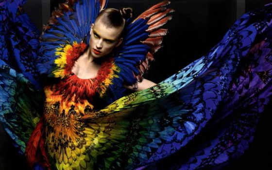 птица, тепло, девушка, стиль, fashion,