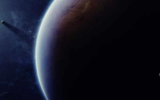, тень, луна, планета