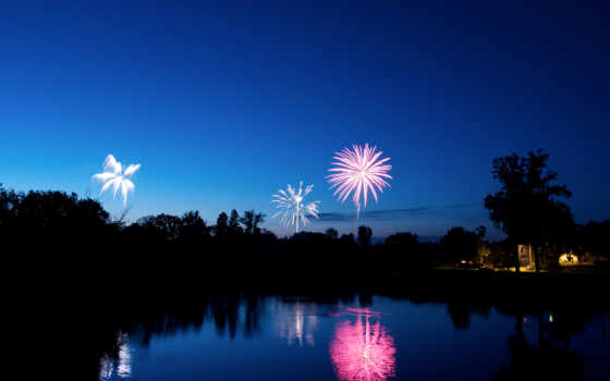 салют, красивые, fireworks, пейзажи -, anno,