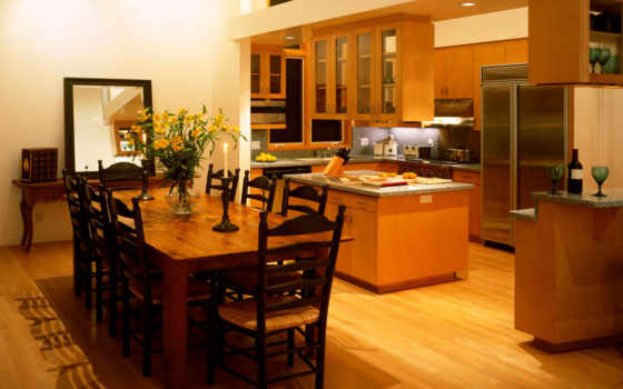 kitchen, dining, room