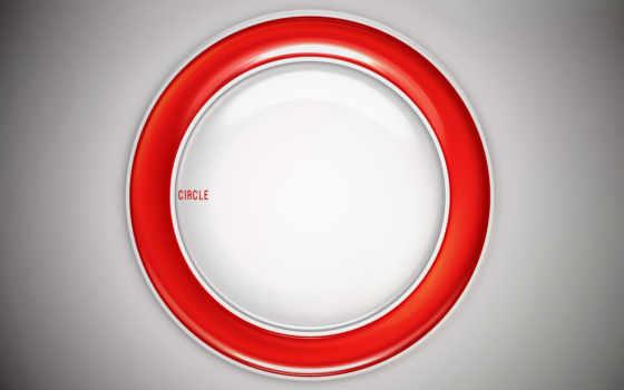 red, circle, white, top, abstract, desktop, range,