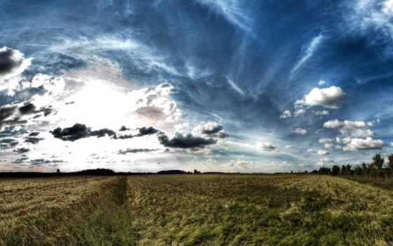 landscape, открыть, космос, desktop, поле, небо, this,