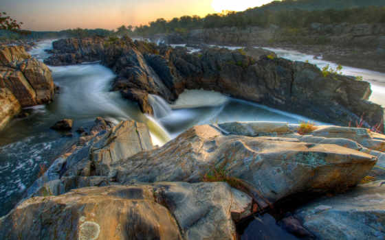 камни, скалы, река, water, rock, горная, песок, трава, trees, oblaka, природа,